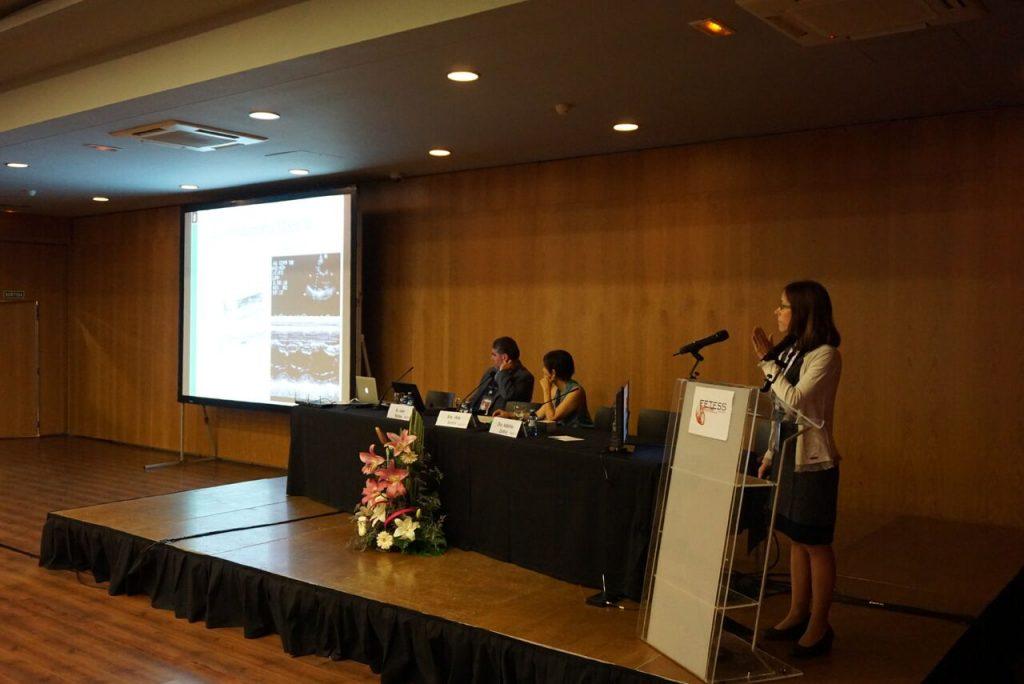 La Dra. Adelina Doltra en un momento de su presentación